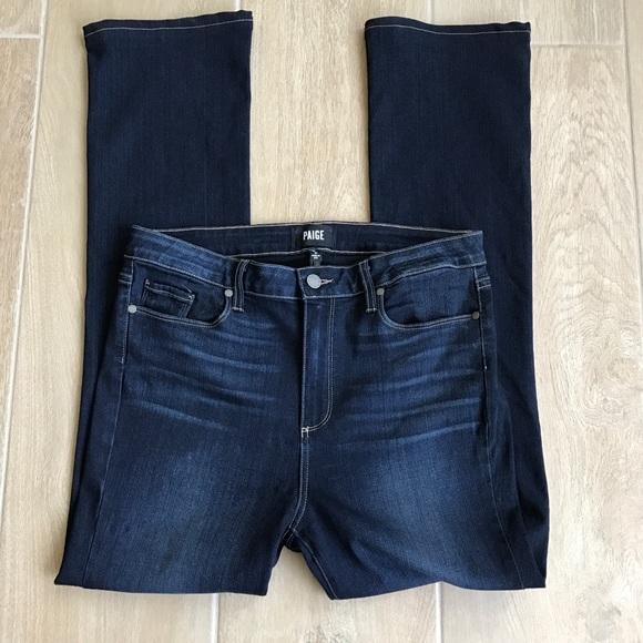 Paige Jeans Dark Wash High Rise Manhattan 31